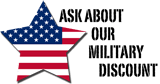 ask about our roofing services military discount